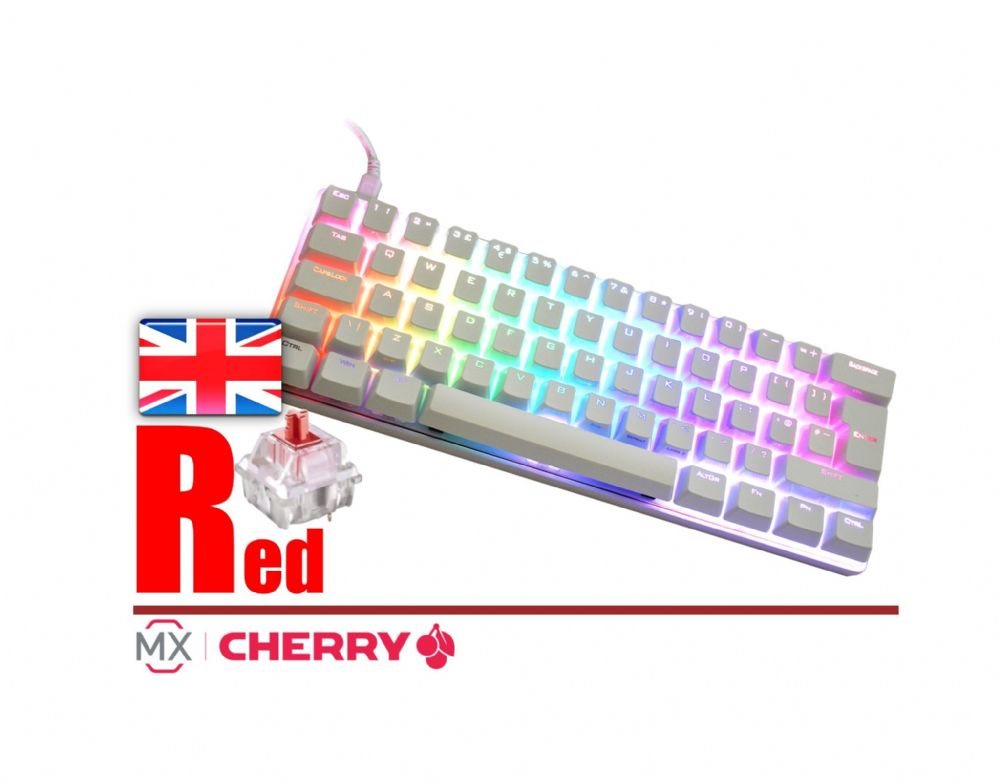 Vortex Pok3r VTG-6100W White RGB Red